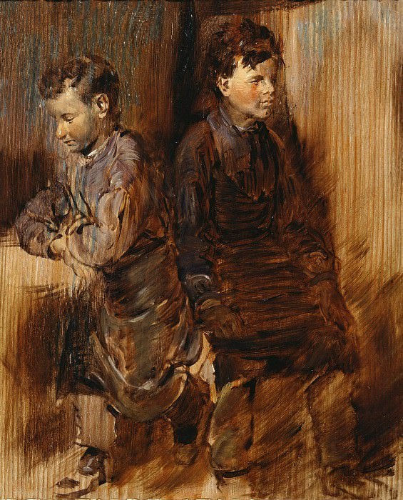 Two young shoemaker. Wilhelm Busch