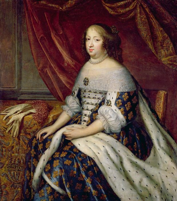 Portrait of Anne of Austria (1601-1666) Queen of France — Charles ...