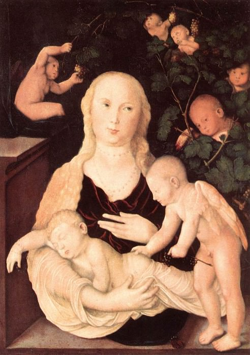 Virgin Of The Vine Trellis. Hans Baldung Grien