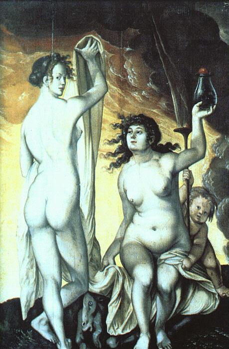 Sacred and Profane Love. Hans Baldung Grien