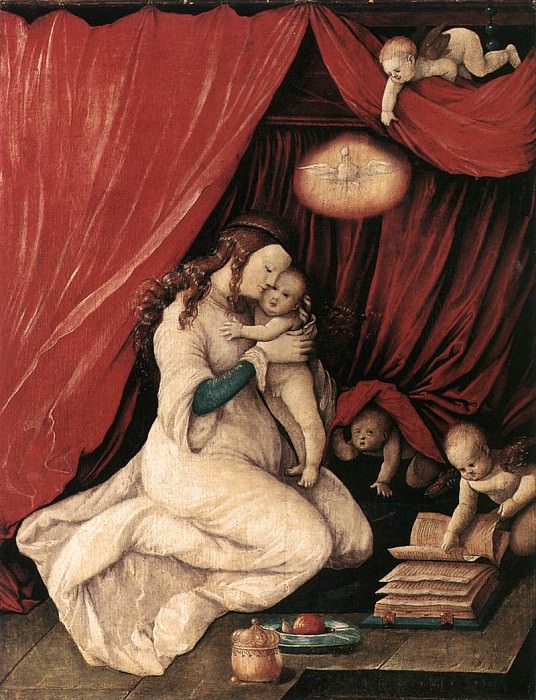 Virgin And Child In A Room. Hans Baldung Grien