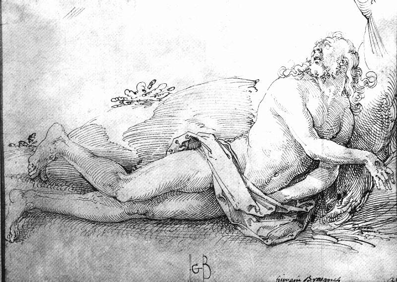 The Dead Christ, 1507, pen and ink on paper, T. Hans Baldung Grien