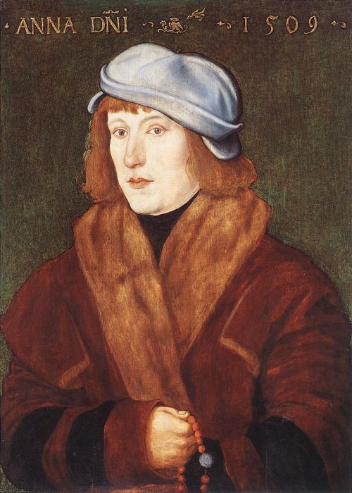 Portrait Of A Young man With A Rosary. Hans Baldung Grien