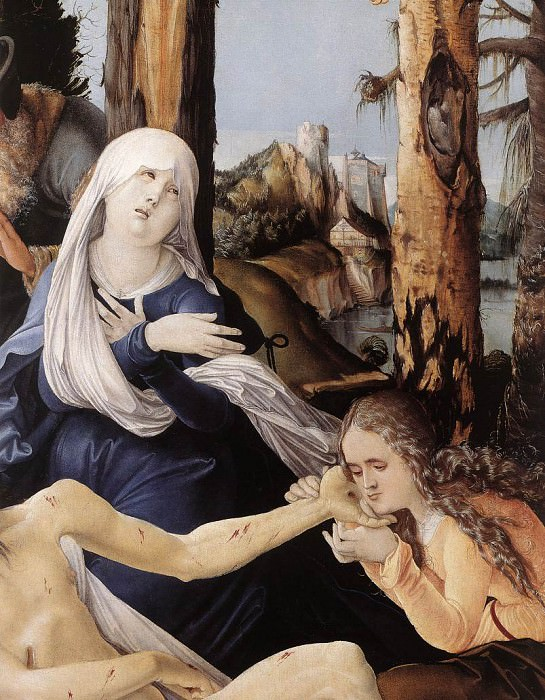 The Lamentation Of Christ. Hans Baldung Grien (detail)
