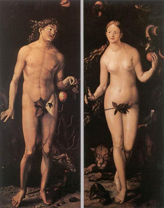 Adam And Eve. Hans Baldung Grien