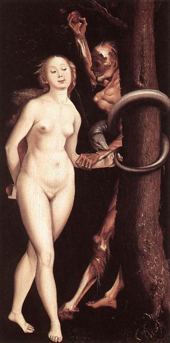 Eve, the Serpent and Death. Hans Baldung Grien