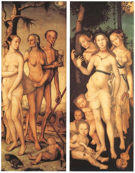Three Ages Of Man And Three Graces. Hans Baldung Grien