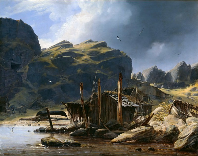 Рыбацкий поселок Сольсвик, Норвегия. Густав Адольф Бёниш