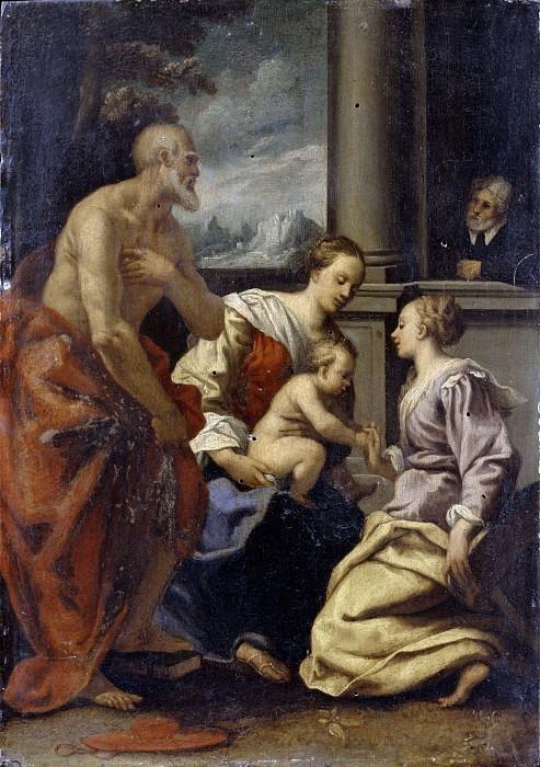 Мистическая свадьба святых Екатерины Александрийской и святого Иеронима. Бастароло (Джузеппе Маццуоли)