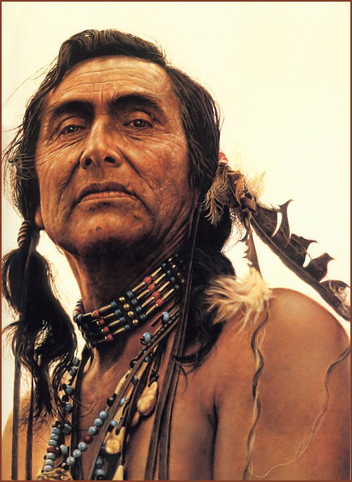 Portrait of a Sioux. James E Bama