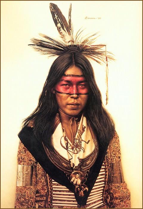 Indian Boy at Crow Fair. James E Bama
