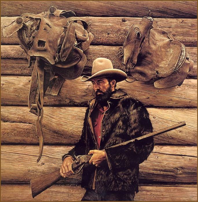 Bob Edgar with Sharps Rifle. James E Bama