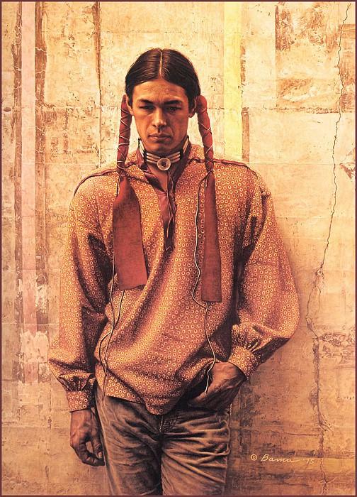 Young Oglala Sioux. James E Bama