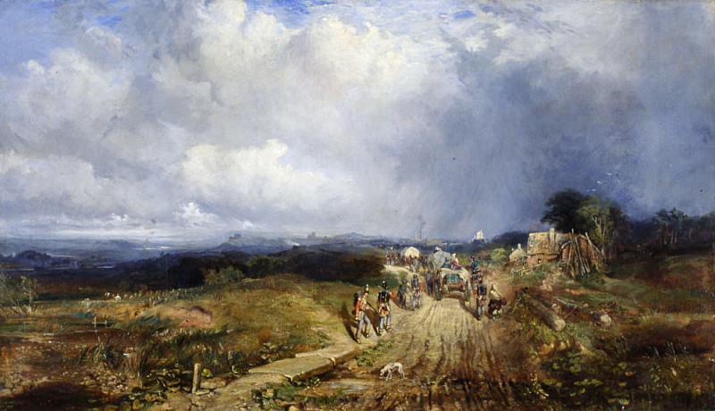 Baggage Wagons Approaching Carlisle. Samuel Bough
