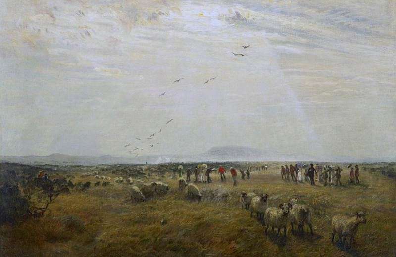 A golf match at St Andrews in 1868. Samuel Bough