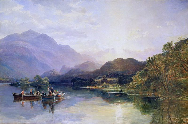 Fishing Party at Loch Achray with a View of Ben Venue Beyond. Samuel Bough