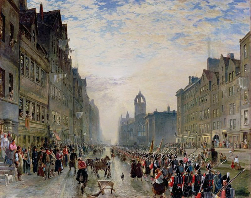 The High Street Edinburgh. Samuel Bough