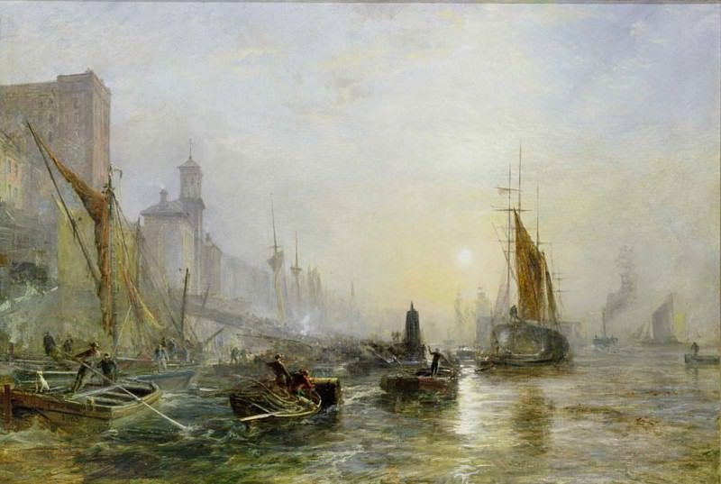 Shipping on the Thames. Samuel Bough