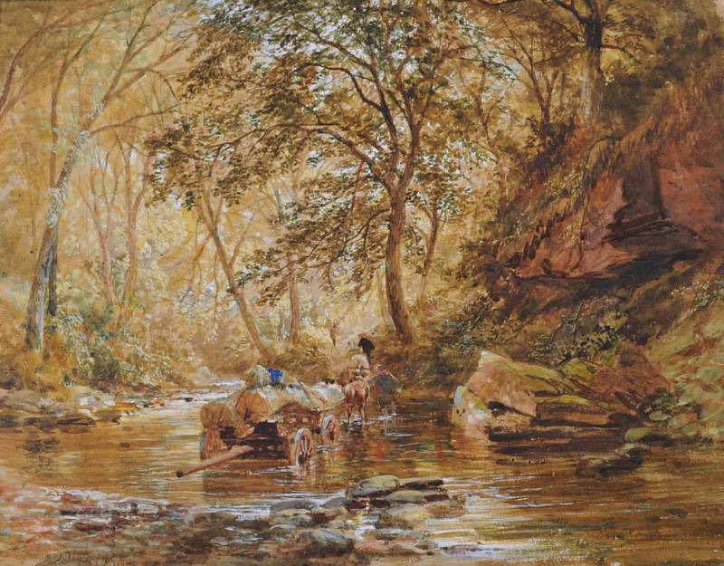Cadzow Burn. Samuel Bough