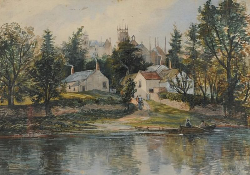 Wetheral Ferry. Samuel Bough
