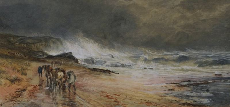 Storm on the Firth. Samuel Bough