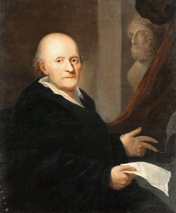 Portrait of the Poet Friedrich Klopstock. Johann Hieronymus Barckhan