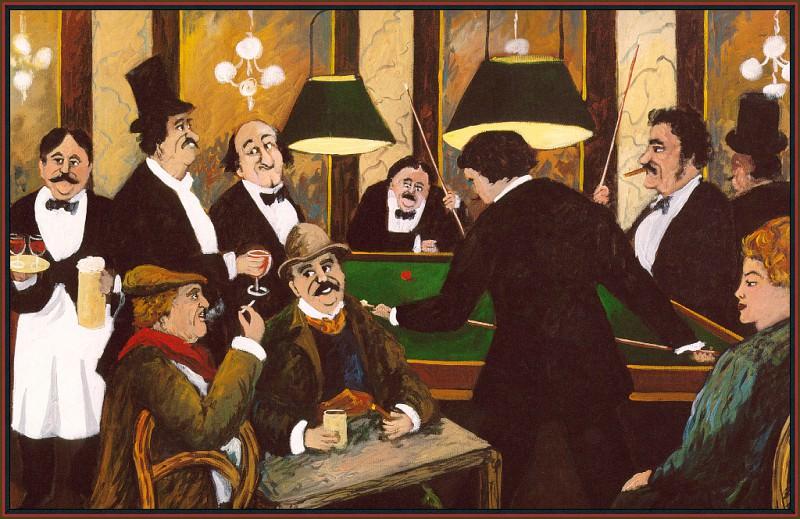 Billiards. Guy Buffet