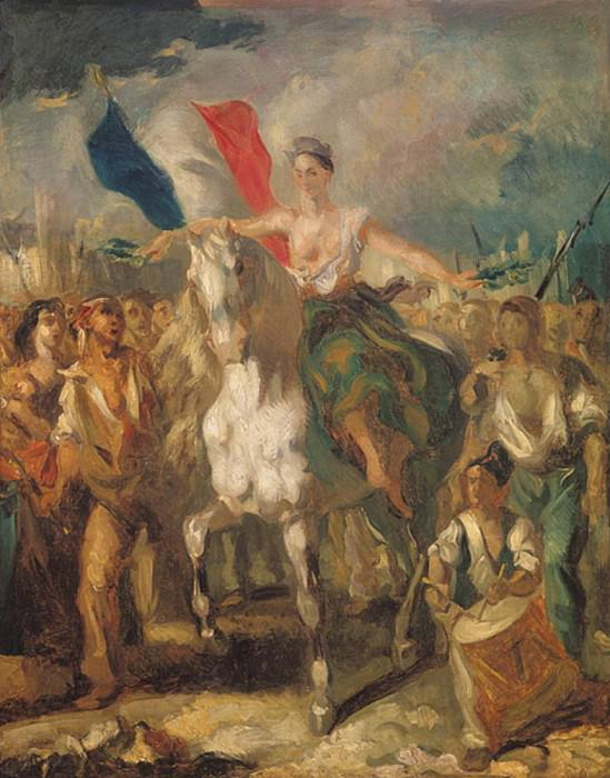 Study for Liberty. Louis Boulanger