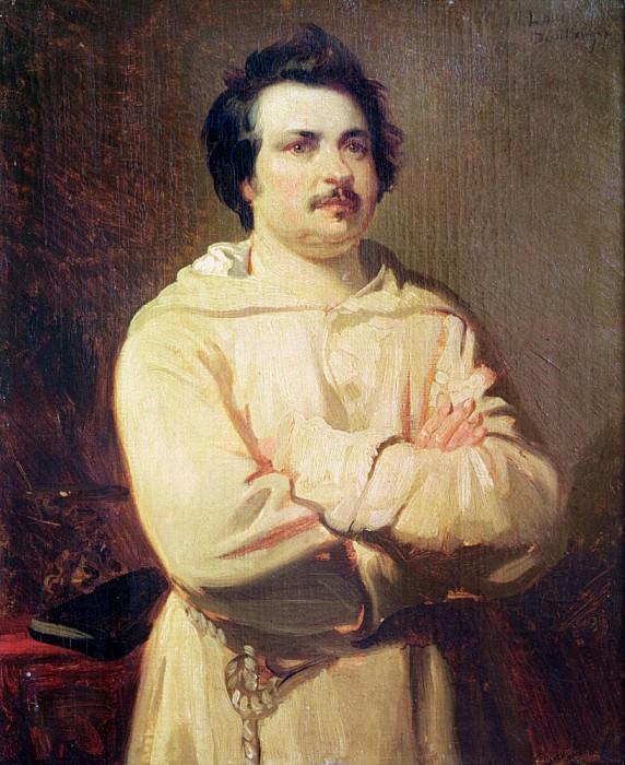 Honore de Balzac (1799-1850) in his Monks Habit. Louis Boulanger