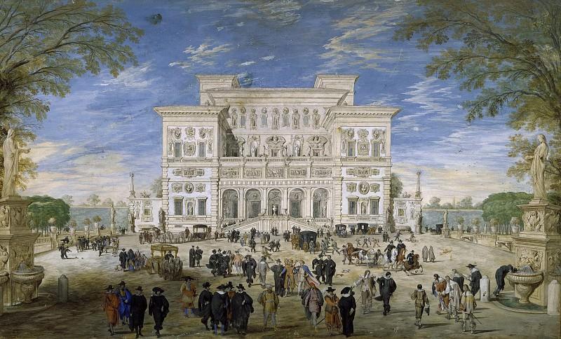 View of Villa Borghese. Johann Wilhelm Bauer