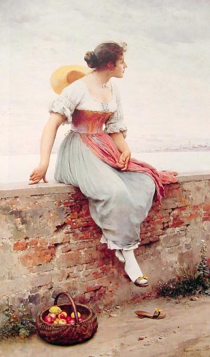 A Pensive Moment. Eugene De Blaas