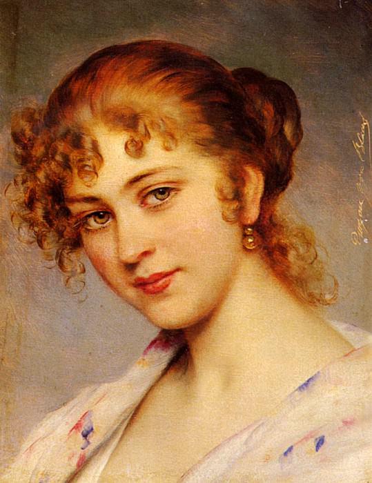 Von A Portrait Of A Young Lady. Eugene De Blaas