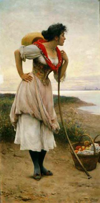 Fruit Vendor. Eugene De Blaas
