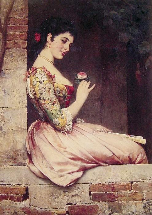 The Rose. Eugene De Blaas