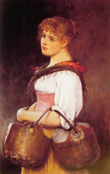 The Milkmaid. Eugene De Blaas