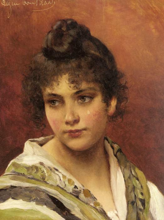 A Young Beauty. Eugene De Blaas