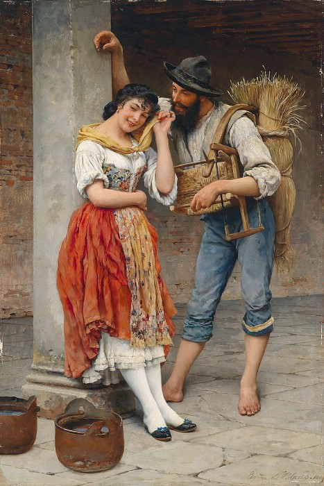 The Spider and the Fly. Eugene De Blaas