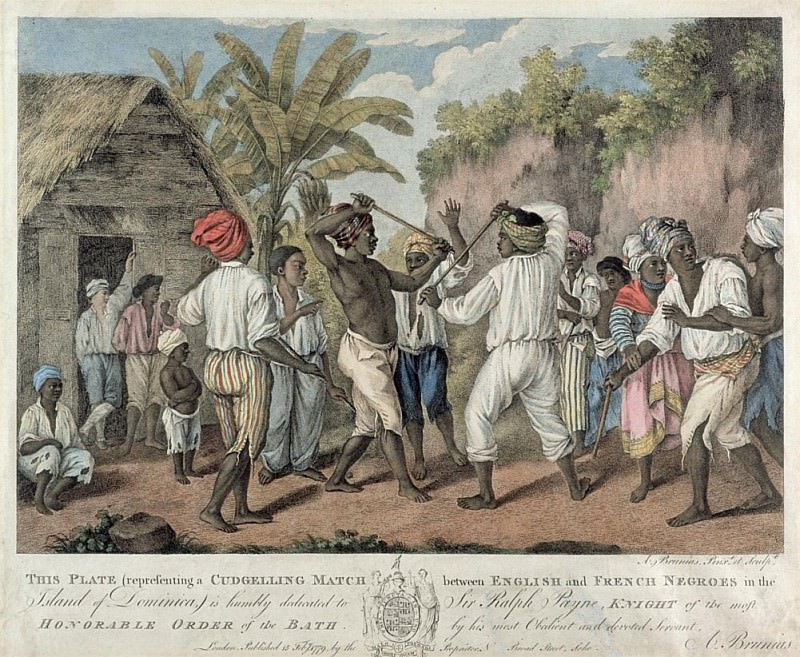 A Cudgelling Match between English and French Negroes on the Island of Dominica. Agostino Brunias