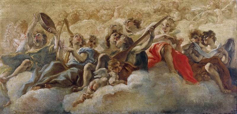 Angels playing Music. Giovanni Battista Gaulli (Baciccio)