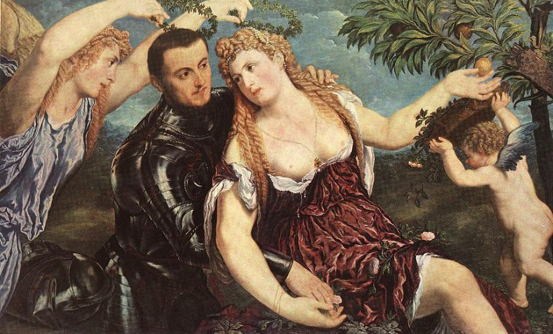ALLEGORY WITH LOVERS. Paris Bordone