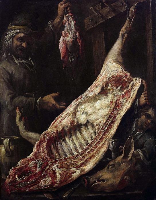 Интерьер мясной лавки. Феличе Боселли