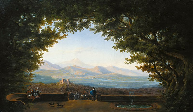 Панорамный пейзаж. Иоганн Фридрих Бонте