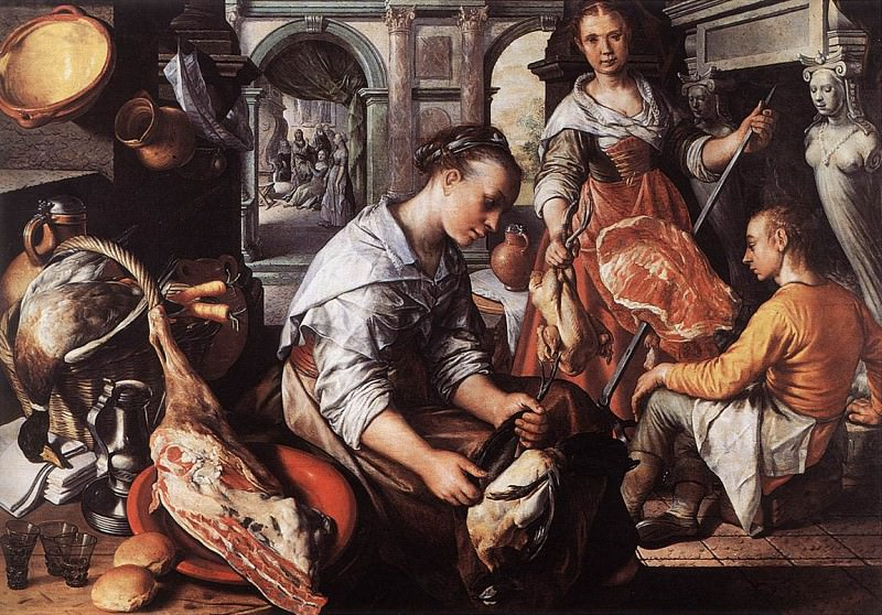 Christ In The House Of Martha And Mary. Joachim Beuckelaer