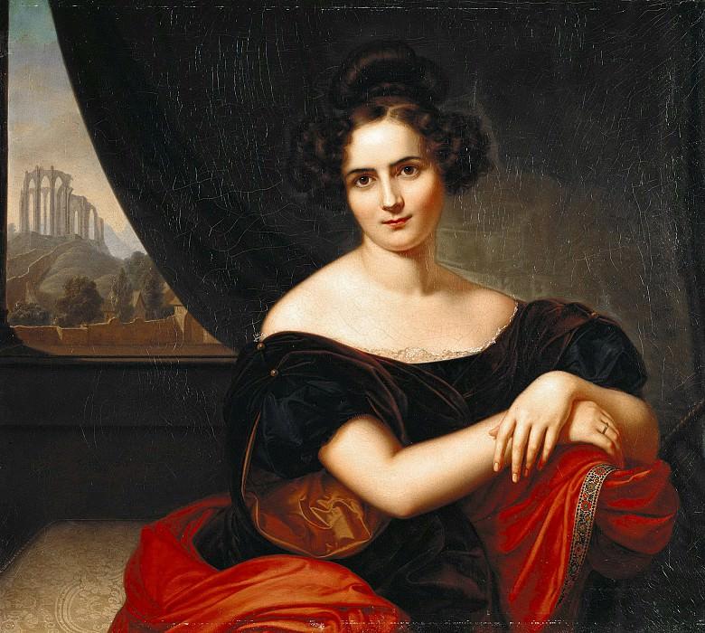 Portrait of Frau Gedecke. Karl Joseph Begas
