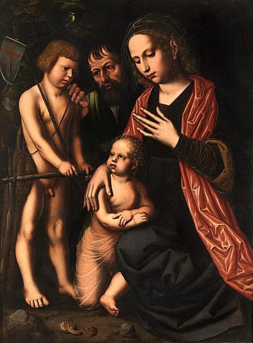The Holy Family and Saint John the Baptist. Ambrosius Benson
