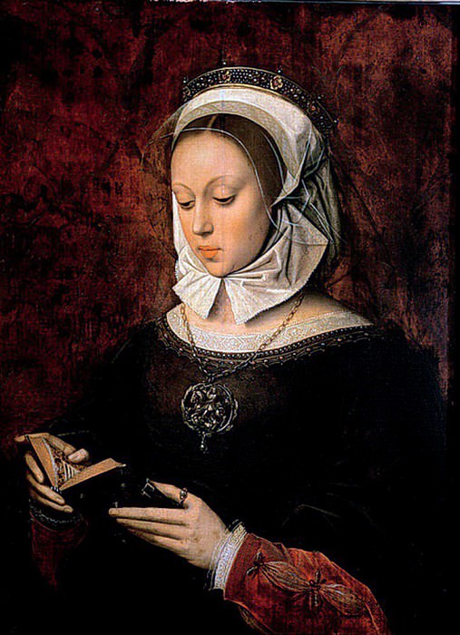 Young Woman Reading a Book of Hours. Ambrosius Benson