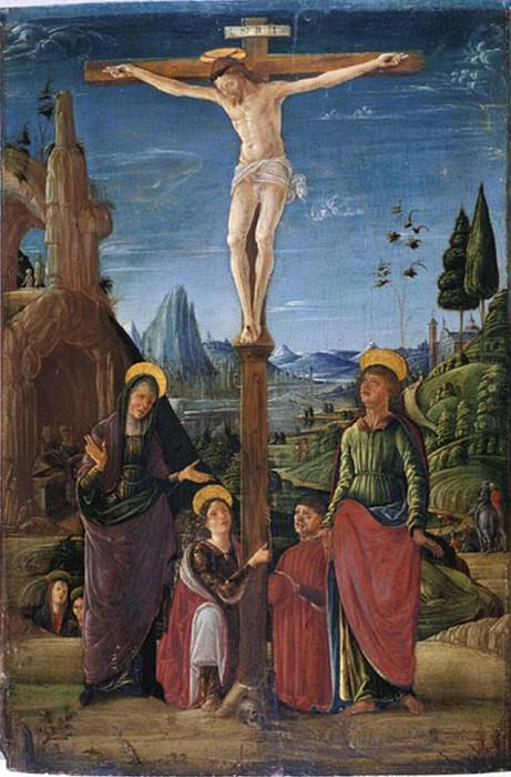 The Crucifixion with Mary, John, Mary Magdalene and a benefactor