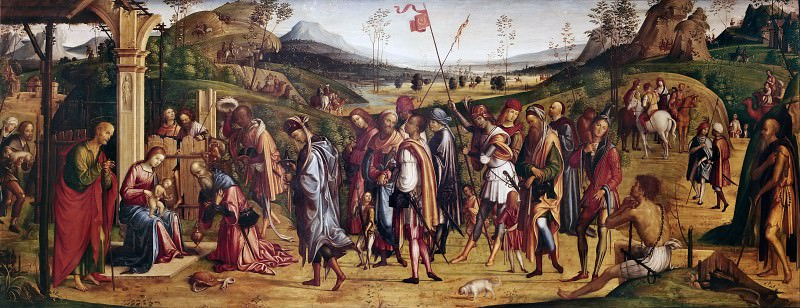 Adoration of the Magi. Lorenzo Costa