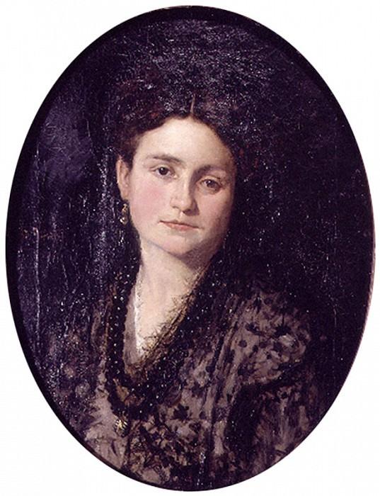 Retrato de Dona Teresa Martinez esposa del pintor. Ignacio Pinazo Camarlench