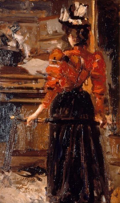 Интерьер с женской фигурой. Америно Каньони